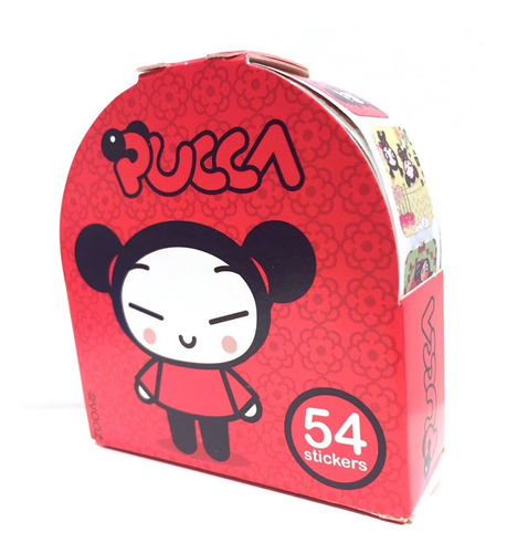 Pucca Roll Con 54 Stickers Oficial Nuevo Original