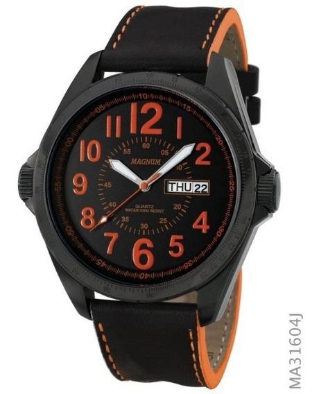Relógio De Pulso Magnum Masculino Original Preto Ma31604j