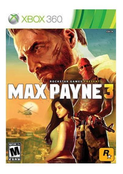 Max Payne 3 Xbox 360 Jogo Original Midia Fisica Usado
