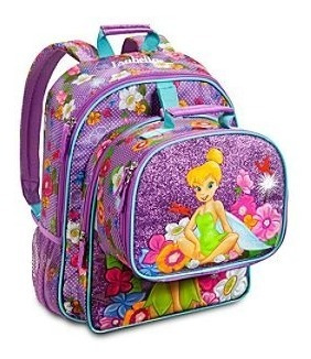 Mochila + Lunchera Térmica Tinker Princesas Disney Store