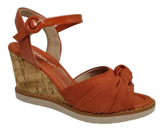 Sandalia Feminina Anabela Marfim Piccadilly 428012-6