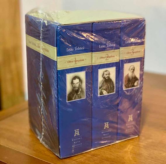 Leão Tolstoi Obra Completa - 3 Volumes - Nova Aguilar