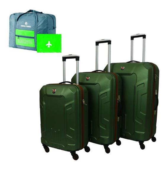 Set De 3 Maletas Expandibles Kim 2 Swiss Travel Rígidas 4 Ru