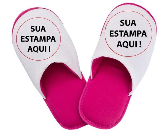 Pantufa Rosa Masculino Feminino Unissex Ref 850056