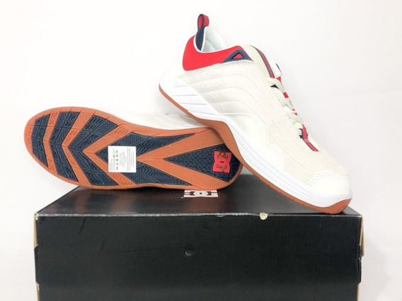 Tênis Dc Shoes Williams Slim S White Navy Red Original