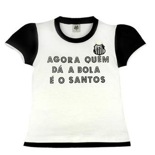 Camisa Infantil Santos Glitter Oficial Menina Revedor