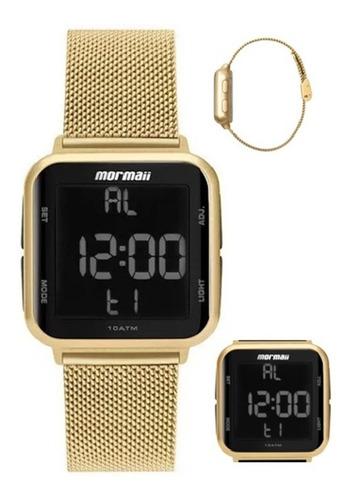 Relógio Mormaii Mo6600ah 8d Digital Dourado - Oficial - Nfe