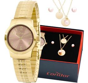 Kit Relógio Condor Feminino Barato Garantia Co2035klz/k4x