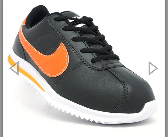 Tênis Nike Classic Cortez Preto E Laranja