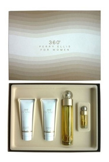Estuche Perry Ellis 360 Mujer 4pz Perfume 100ml +gel +splash