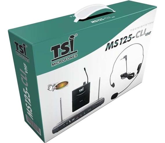 Microfone S/ Fio Tsi Ms 125 Cli Vhf Headset