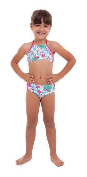 Biquíni Infantil Hot Pants Azul E Rosa Best Fit