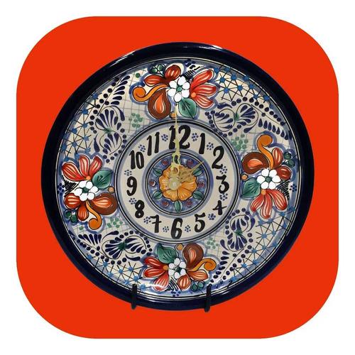 -15% Reloj De Talavera Poblana Redondo 25 Cm Color