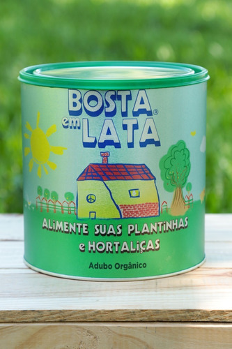 Fertilizante Orgânico Bosta Em Lata Plantas E Horta - 2,3kg