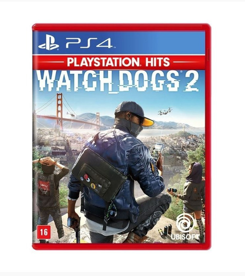 Watch Dogs 2 Ps4 Jogo Mídia Física Português Lacrado Novo