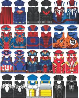Kit Arte Camisas Super Heróis - 12 Artes Em Vetor - Promoção