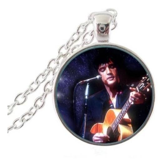 Cordão Colar Corda Elvis Presley Em Aço Rei Do Rock Guitarra