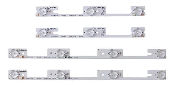 Kit Led Novo 4 Barras Aluminio 32l2400 Dl3244 Dl3245i Dl3253