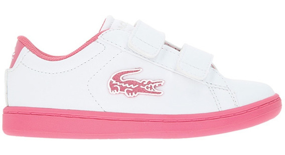 Tenis Lacoste Carnaby Evo 319 1 Blanco/rosal Bebé 2019