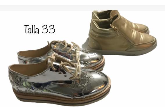 Zapatos De Niñas Importados Talla 31- 33 Oferta