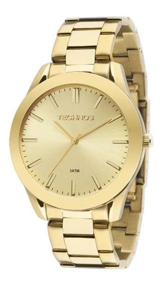 Relógio Technos Masculino Dourado Clássico 2035lrp/4x