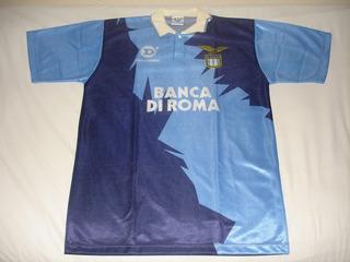Camisa Lazio #10 - Dellerba Banca Di Roma - Tam. G (77x54)