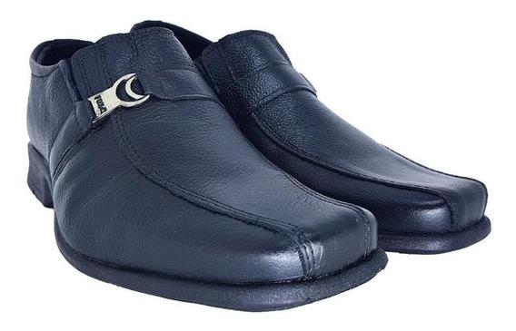 Sapato Social Masculino Couro Conforto Dia A Dia Evangélico