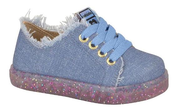 Tênis Baby Jeans Glitter Molekinha 011919