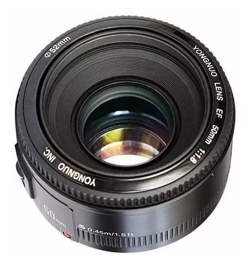 Lente Yongnuo 50mm F/1.8 Canon - Nova E Garantia