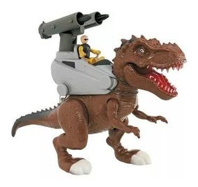 Dinossauro Rex Attack - Lança Míssil - Marrom - Adijomar