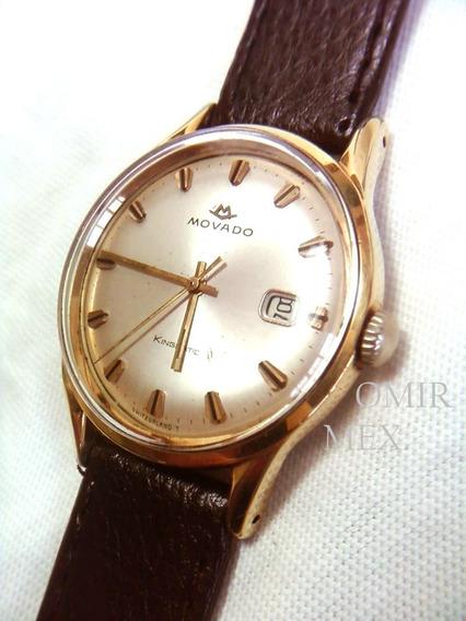 Reloj Movado Kingmatic Automatico Chapa Oro Vintage