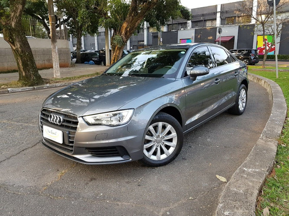 Audi A3 1.4 Attraction 2016 Unico Dono Cinza 39 Mil Km
