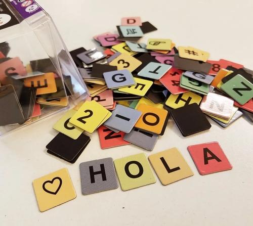 Letras Números Emojis Símbolos Imantados Niños Bitácora Clap