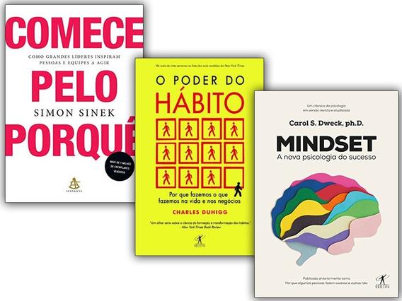 Kit Livros Mindset + O Poder Do Hábito + Comece Pelo Porque
