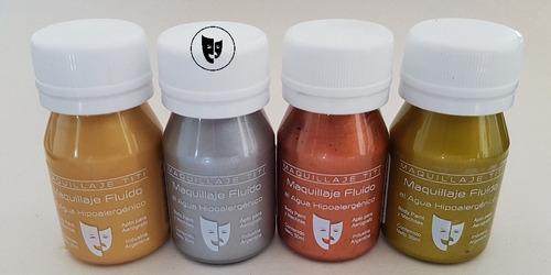 Body Paint Al Agua Maquillaje Titi 30cc -- Metal Plata