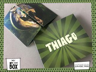 Tarjetas Para Cumpleaños De Jurassic Park Con Nombre Tomas