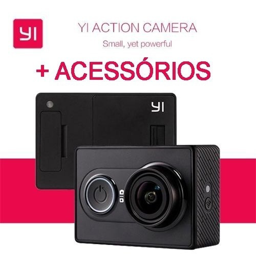 Xiaomi Yi 1080p Action Câmera + Acessórios Camera De Ação