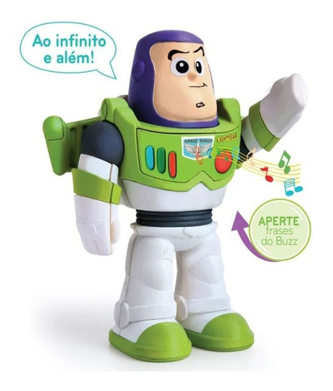 Boneco Buzz Lightyear Meu Amigo Toy Story Com Som Articulado