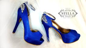 874abe4b4fb Zapatos De Novia Color Azul Rey en Mercado Libre México