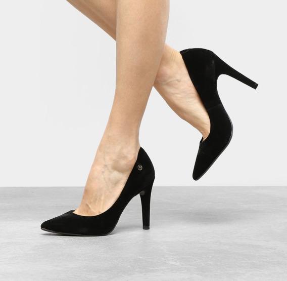 Sapato Scarpin Feminino Bico Fino Salto Alto 10 Cm