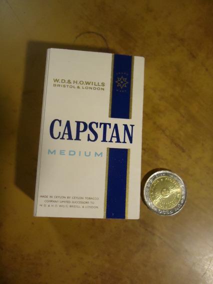 Caja Vacia De Cigarrillos Capstan N 1