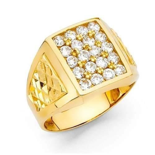 Anel Ouro Original Masculino 18k 750 Forrado Jóia Pedra Luxo