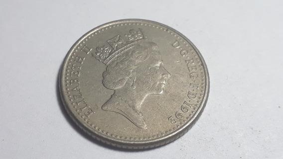 Moneda Reino Unido 10 Nuevos Peniques, 1992 Cupron Lote 808