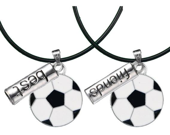 2 Collar Pelota Balón Fútbol Soccer Best Friend Amigo Novio