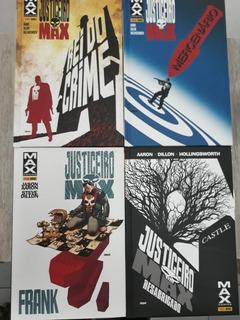 Hqs Justiceiro Max Completo 4 Edições Panini Marvel Capa Dur