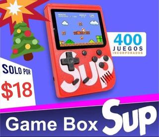 Juego Consola Game Box Sup 400 Juegos Retro Incorporados