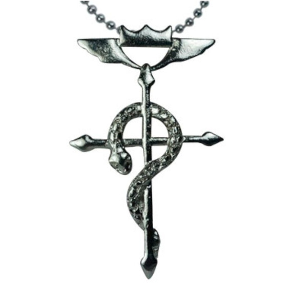 Full Metal Alchesmit Fma Dije Collar Cruz