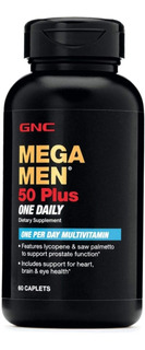 Multi Vitamina Mega Men 50 Plus - Envase De 60 Caps