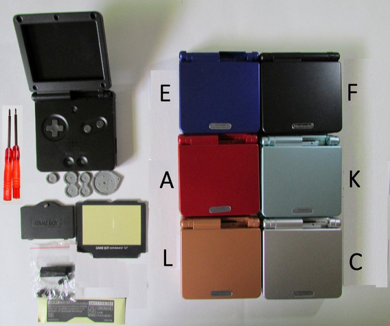 Carcaça Game Boy Advance Sp + X E Y + Dobradiça