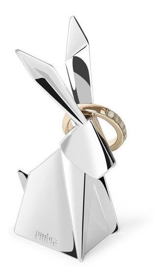 Coelho Origami - Porta Anéis Umbra Cromado